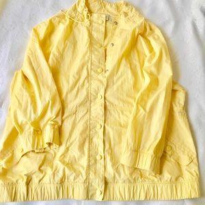 Pale Yellow Windbreaker
